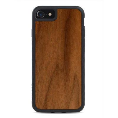 Apple iPhone 7 / 8 / SE (2020) Puinen Suojakuori Carved Pähkinä