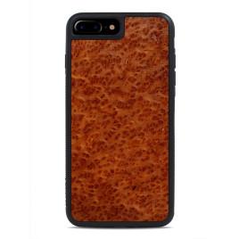 Apple iPhone 7 Puinen Suojakuori Carved Punapuu Pahka