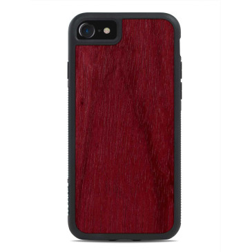 Apple iPhone 7 Puinen Suojakuori Carved Purpleheart