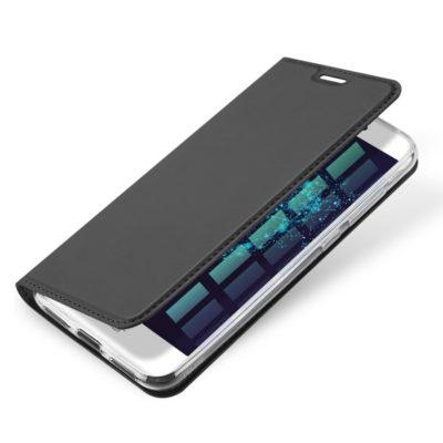 Huawei Honor 8 Lite Kotelo Dux Ducis Tummanharmaa