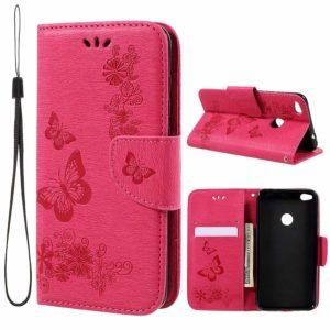 Huawei Honor 8 Lite Kotelo Perhonen Pinkki