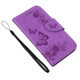 Huawei Honor 8 Lite Kotelo Perhonen Violetti