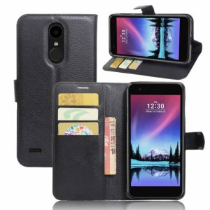 LG K10 (2017) Lompakkokotelo Musta