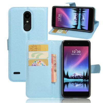 LG K10 (2017) Lompakkokotelo Sininen