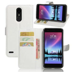 LG K10 (2017) Lompakkokotelo Valkoinen