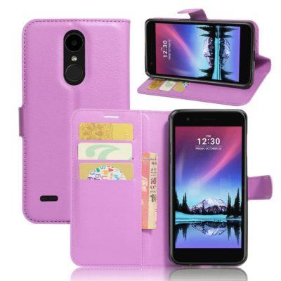 LG K10 (2017) Lompakkokotelo Violetti
