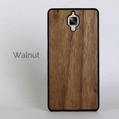 OnePlus 3 / 3T Puinen Suojakuori Lastu Pähkinä