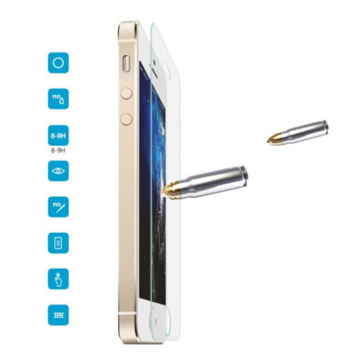 Apple iPhone 5 / 5S / 5C / SE Lasikalvo ROCK 0,3mm
