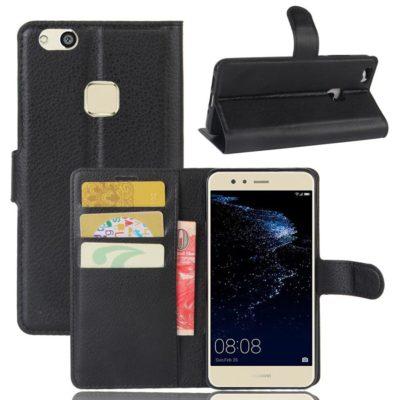 Huawei P10 Lite Kotelo Musta Lompakko