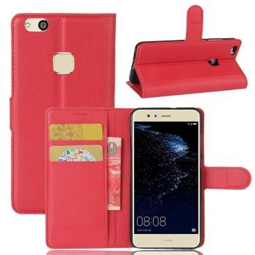 Huawei P10 Lite Kotelo Punainen Lompakko