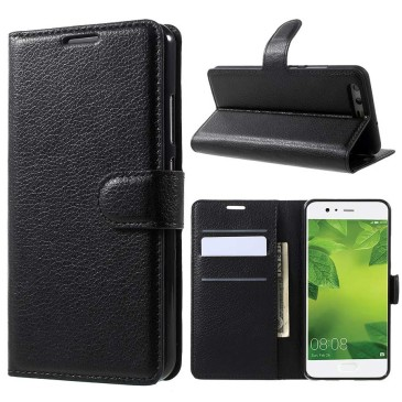 Huawei P10 Suojakotelo Musta Lompakko