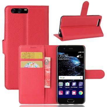 Huawei P10 Suojakotelo Punainen Lompakko