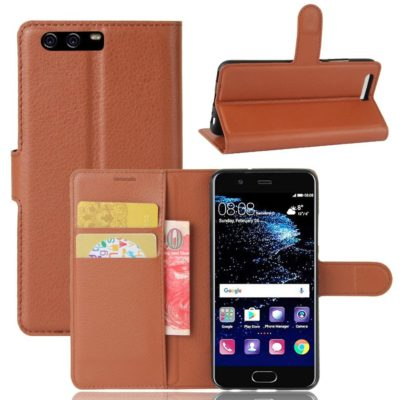 Huawei P10 Suojakotelo Ruskea Lompakko