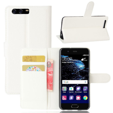 Huawei P10 Suojakotelo Valkoinen Lompakko