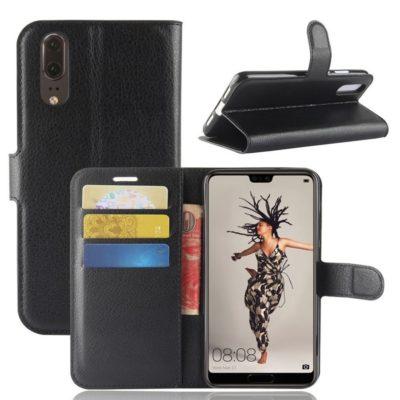 Huawei P20 Suojakotelo Musta Lompakko