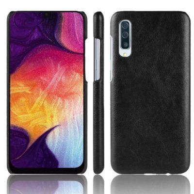 Samsung Galaxy A70 Suojakuori PU-Nahka Musta