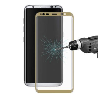 Samsung Galaxy S8 Kaareutuva Suojalasi Kulta
