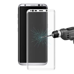 Samsung Galaxy S8 Kaareutuva Suojalasi Valkoinen