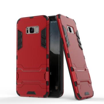 Samsung Galaxy S8 Suojakuori 2-osainen Punainen