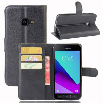 Samsung Galaxy Xcover 4 / 4s Lompakkokotelo Musta