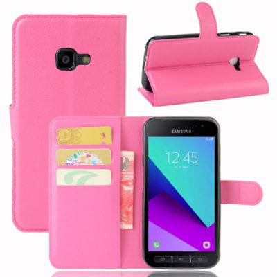 Samsung Galaxy Xcover 4 / 4s Lompakkokotelo Pinkki
