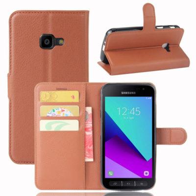 Samsung Galaxy Xcover 4 / 4s Lompakkokotelo Ruskea