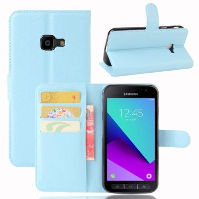 Samsung Galaxy Xcover 4 / 4s Lompakkokotelo Sininen