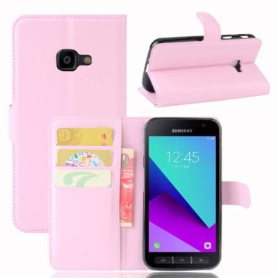 Samsung Galaxy Xcover 4 / 4s Lompakkokotelo Vaaleanpunainen
