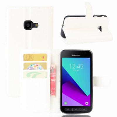 Samsung Galaxy Xcover 4 / 4s Lompakkokotelo Valkoinen