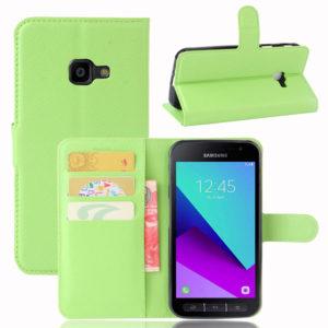 Samsung Galaxy Xcover 4 / 4s Lompakkokotelo Vihreä