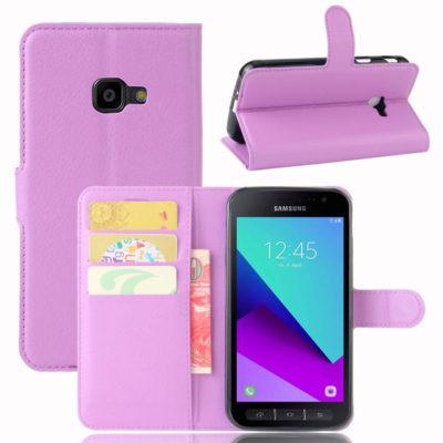 Samsung Galaxy Xcover 4 / 4s Lompakkokotelo Violetti