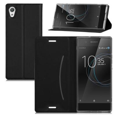 Sony Xperia XA1 Kannellinen Suojakuori Musta