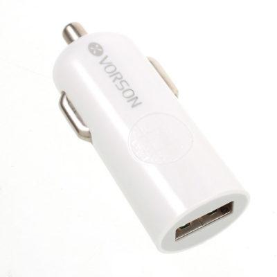 USB Autolaturi 2.4A Vorson Puhelimille ja Tableteille