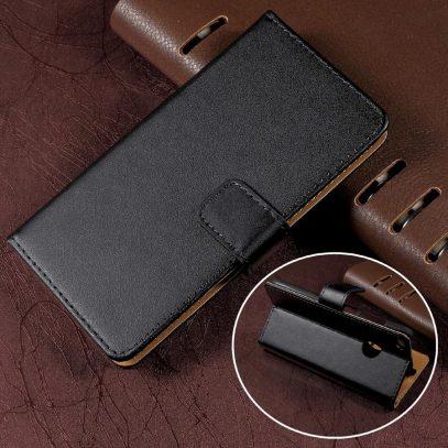 Huawei Honor 8 Lite Nahkakotelo Musta