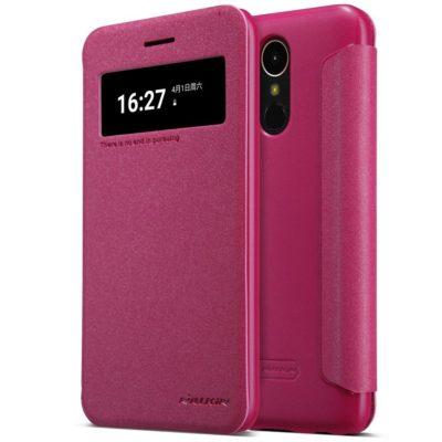 LG K10 (2017) Kotelo Nillkin Sparkle Pinkki