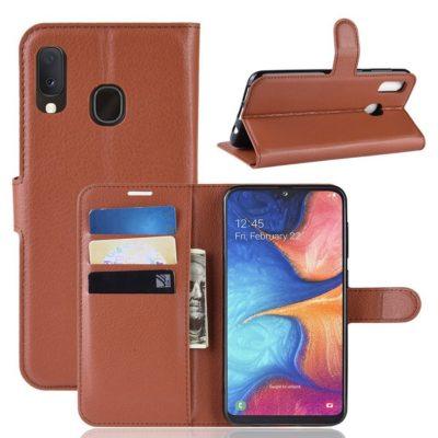 Samsung Galaxy A20e Kotelo PU-Nahka Ruskea