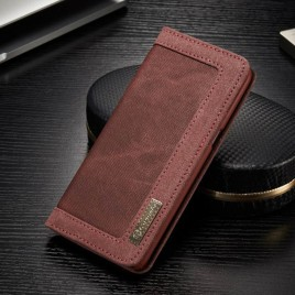 Samsung Galaxy S8 Kotelo Caseme Kangas Punainen