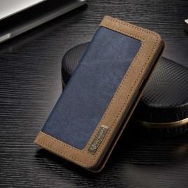 Samsung Galaxy S8 Kotelo Caseme Kangas Sininen