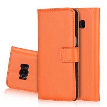 Samsung Galaxy S8 Kotelo Oranssi Nahka