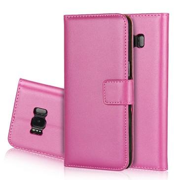 Samsung Galaxy S8 Kotelo Pinkki Nahka