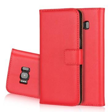 Samsung Galaxy S8 Kotelo Punainen Nahka