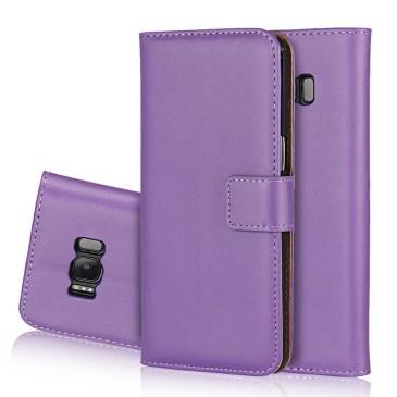 Samsung Galaxy S8 Kotelo Violetti Nahka
