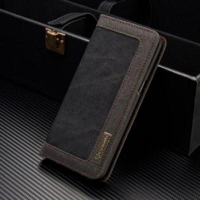 Samsung Galaxy S8+ Kotelo Caseme Kangas Musta