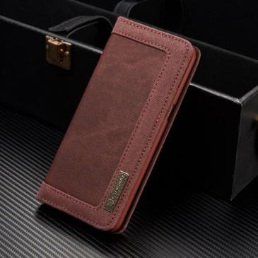 Samsung Galaxy S8+ Kotelo Caseme Kangas Punainen