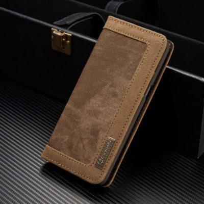 Samsung Galaxy S8+ Kotelo Caseme Kangas Ruskea