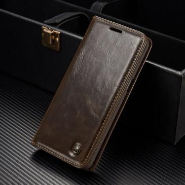 Samsung Galaxy S8+ Kotelo Caseme Ruskea