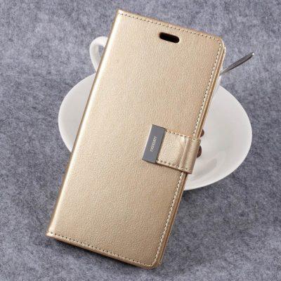Samsung Galaxy S8+ Kotelo Rich Diary Kulta