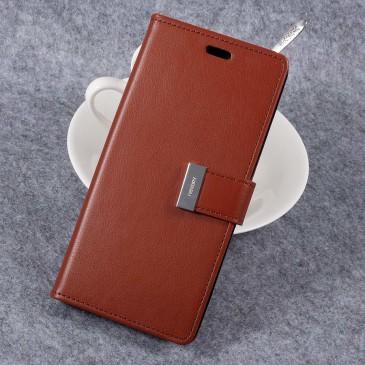 Samsung Galaxy S8+ Kotelo Rich Diary Ruskea