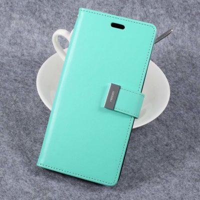 Samsung Galaxy S8+ Kotelo Rich Diary Turkoosi