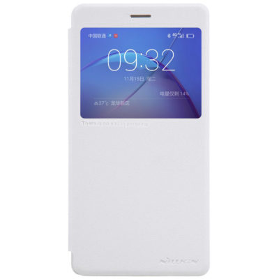 Huawei Honor 6X Kotelo Nillkin Sparkle Valkoinen